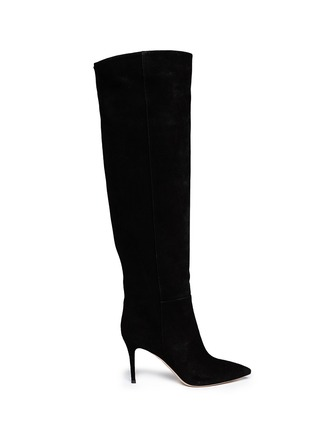 Main View - Click To Enlarge - Gianvito Rossi - Suede point toe boots