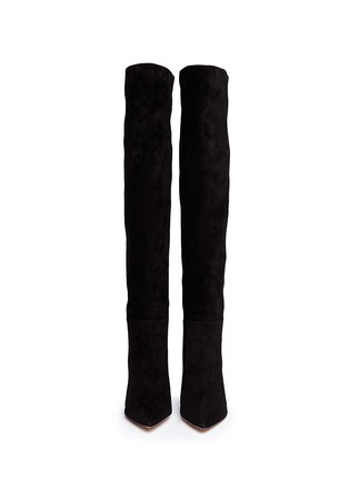 Figure View - Click To Enlarge - Gianvito Rossi - Suede point toe boots