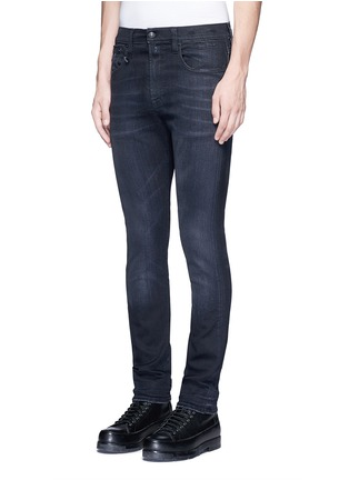 Front View - Click To Enlarge - R13 - 'Skate' distressed slim fit jeans