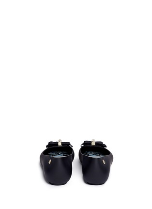 Back View - Click To Enlarge - Melissa - x Jason Wu 'Space Love II' bow PVC flats