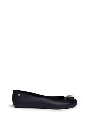 Main View - Click To Enlarge - Melissa - x Jason Wu 'Space Love II' bow PVC flats