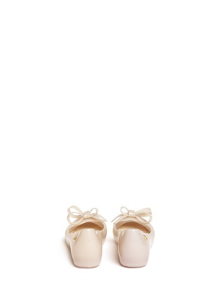 Back View - Click To Enlarge - Melissa - 'Ultragirl Bow II' PVC kids flats