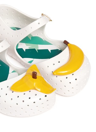 Detail View - Click To Enlarge - Melissa - 'Furadinha IX' banana appliqué toddler Mary Jane flats