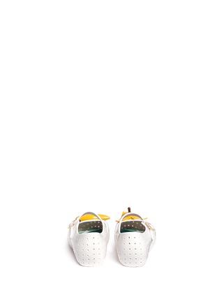 Back View - Click To Enlarge - Melissa - 'Furadinha IX' banana appliqué toddler Mary Jane flats