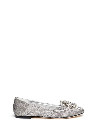 Main View - Click To Enlarge - Dolce & Gabbana - Jewel brooch Taormina lace flats