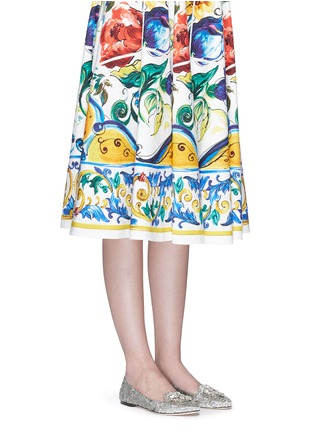 Figure View - Click To Enlarge - Dolce & Gabbana - Jewel brooch Taormina lace flats
