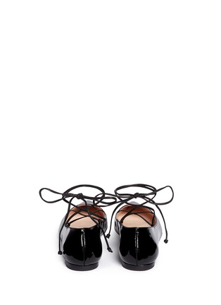Back View - Click To Enlarge - Kate Spade - 'Genie' patent leather lace-up flats