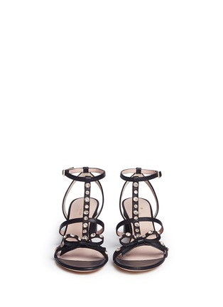 Front View - Click To Enlarge - Kate Spade - 'Miles' jewelled bow strappy leather sandals
