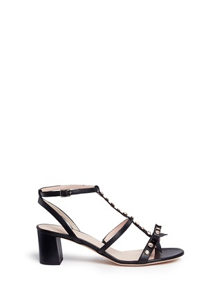 Main View - Click To Enlarge - Kate Spade - 'Miles' jewelled bow strappy leather sandals