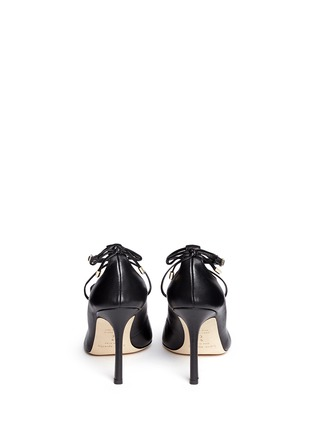 Back View - Click To Enlarge - KATE SPADE - 'Priscilla' lace-up leather pumps