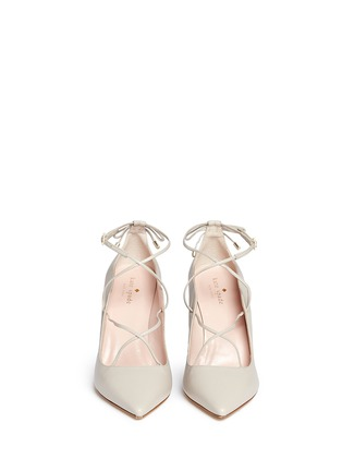 Front View - Click To Enlarge - Kate Spade - 'Priscilla' lace-up leather pumps