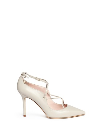 Main View - Click To Enlarge - Kate Spade - 'Priscilla' lace-up leather pumps
