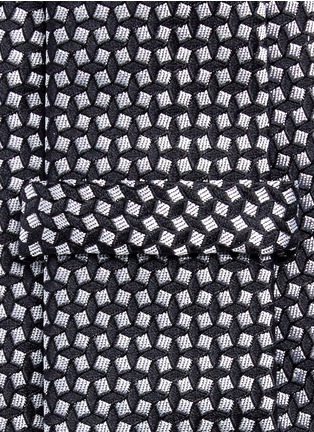 Detail View - Click To Enlarge - Armani Collezioni - Square jacquard tie