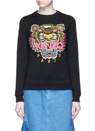 Main View - Click To Enlarge - KENZO - 'Tiger' embroidery sweatshirt