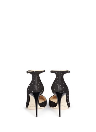 Back View - Click To Enlarge - Jimmy Choo - 'Lucy' ankle strap strass suede d'Orsay pumps