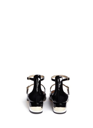 Back View - Click To Enlarge - JIMMY CHOO - 'Wilbur' chunky heel patent Mary Jane pumps