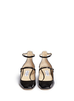 Front View - Click To Enlarge - JIMMY CHOO - 'Wilbur' chunky heel patent Mary Jane pumps