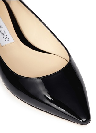 Detail View - Click To Enlarge - Jimmy Choo - 'Romy' patent leather flats