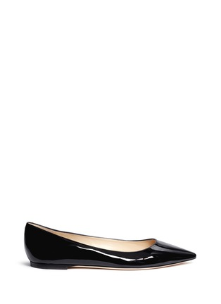 Main View - Click To Enlarge - Jimmy Choo - 'Romy' patent leather flats