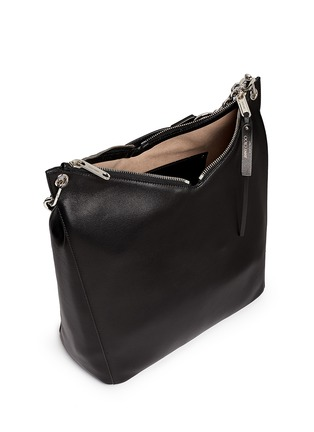 Detail View - Click To Enlarge - Jimmy Choo - 'Raven' large leather shoulder bag