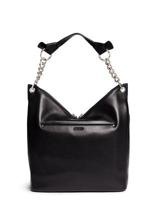 Back View - Click To Enlarge - JIMMY CHOO - 'Raven' large leather shoulder bag