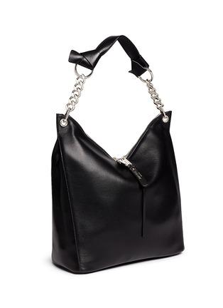 Front View - Click To Enlarge - Jimmy Choo - 'Raven' large leather shoulder bag