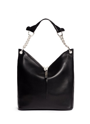 Main View - Click To Enlarge - Jimmy Choo - 'Raven' large leather shoulder bag