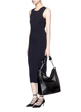 Figure View - Click To Enlarge - JIMMY CHOO - 'Raven' large leather shoulder bag