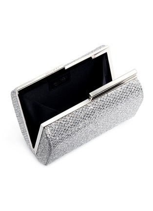 Detail View - Click To Enlarge - Jimmy Choo - 'Cate' bar clasp glitter mesh clutch