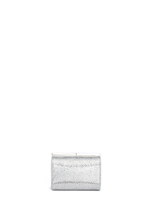 Back View - Click To Enlarge - Jimmy Choo - 'Cate' bar clasp glitter mesh clutch