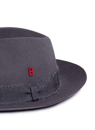 Detail View - Click To Enlarge - My Bob - 'Tribeca' mohair ribbon band rabbit furfelt hat