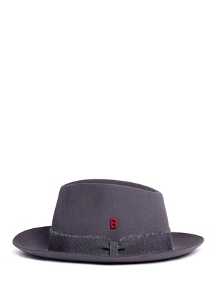 Figure View - Click To Enlarge - My Bob - 'Tribeca' mohair ribbon band rabbit furfelt hat