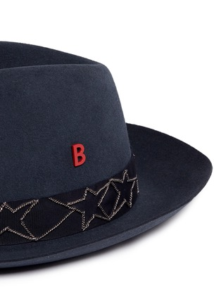 Detail View - Click To Enlarge - My Bob - 'Tribeca' Russian star chain band furfelt hat