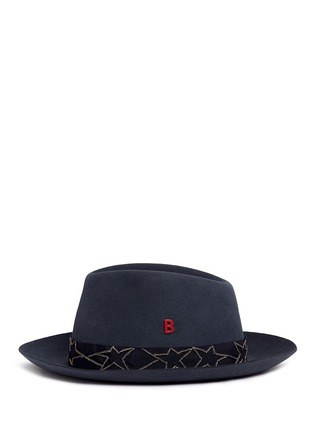 Figure View - Click To Enlarge - My Bob - 'Tribeca' Russian star chain band furfelt hat