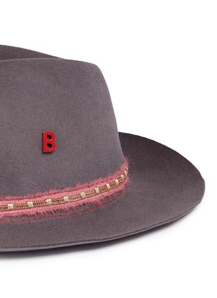 Detail View - Click To Enlarge - My Bob - 'Tribeca Light' metal chain band furfelt hat