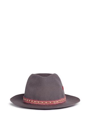 Main View - Click To Enlarge - My Bob - 'Tribeca Light' metal chain band furfelt hat