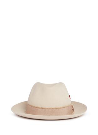Main View - Click To Enlarge - My Bob - 'Tribeca' mohair ribbon band rabbit furfelt hat