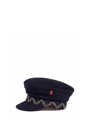 Figure View - Click To Enlarge - My Bob - 'Steward' beaded stripe band felt schoolboy cap