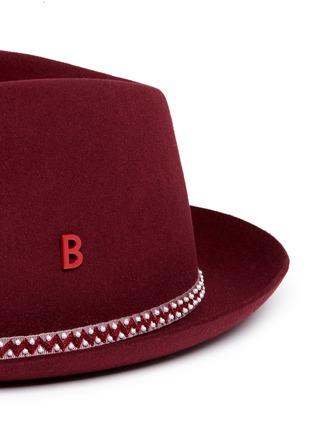 Detail View - Click To Enlarge - My Bob - 'Carl' zigzag stripe band furfelt hat