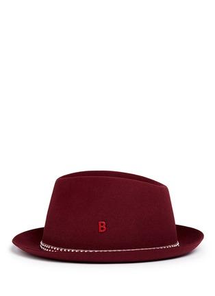Figure View - Click To Enlarge - My Bob - 'Carl' zigzag stripe band furfelt hat
