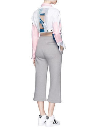Figure View - Click To Enlarge - NICOPANDA - Paint patchwork cropped denim jacket