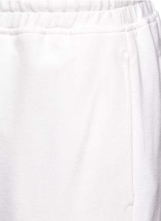 Detail View - Click To Enlarge - NICOPANDA - Satin ribbon tie deconstructed sweatpants