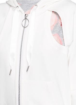 Detail View - Click To Enlarge - NICOPANDA - Cutout double knit jersey hoodie