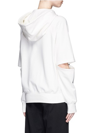 Back View - Click To Enlarge - NICOPANDA - Cutout double knit jersey hoodie