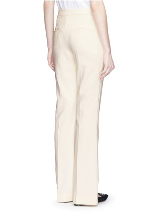 Back View - Click To Enlarge - MO&CO. EDITION 10 - Tailored bell bottom flare pants