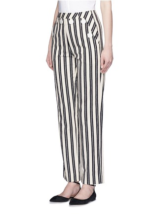 Front View - Click To Enlarge - MO&CO. EDITION 10 - Stripe textured cotton sailor pants