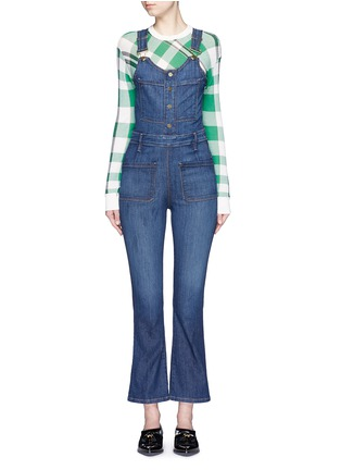 Main View - Click To Enlarge - Frame Denim - 'Le High' denim overalls