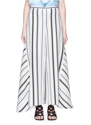 Main View - Click To Enlarge - Peter Pilotto - 'Latmos' stripe silk-blend cloqué culottes