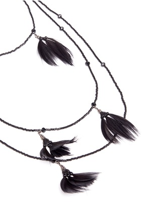 Detail View - Click To Enlarge - Valentino - Navajo feather bead necklace