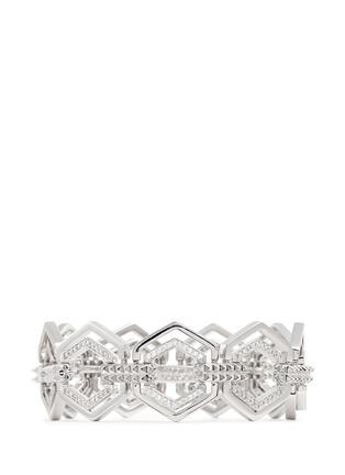 Main View - Click To Enlarge - Eddie Borgo - Crystal pavé hexagon lattice bracelet
